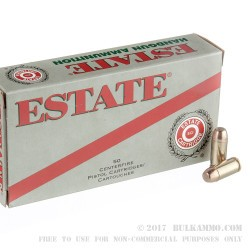 1000 Rounds of .40 S&W Ammo by Estate Cartridge - 165gr FMJ