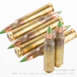 1800 Rounds of 5.56x45 Ammo by Federal Green Tip - 62gr FMJ