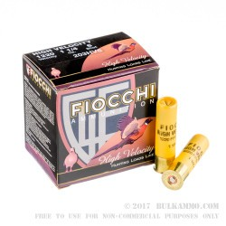 25 Rounds of 20ga Ammo by Fiocchi - 1 1/4 ounce #6 shot