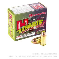 200 Rounds of .45 ACP Ammo by Hornady - 185gr Zombie Z-Max