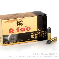 50 Rounds of .22 LR Ammo by RWS - 40gr LRN