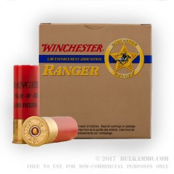 250 Rounds of 12ga Ammo by Winchester Ranger - 00 Buck 8 Pellets Low Recoil