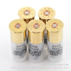 5 Rounds of 12ga Ammo by Rio -  00 Buck