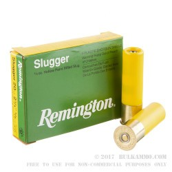 250 Rounds of 20ga Ammo by Remington - 5/8 ounce Rifled Slug