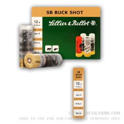 10 Rounds of 12ga 9P Ammo by Sellier & Bellot -  00 Buck