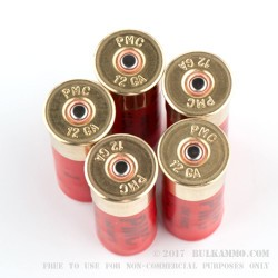 5 Rounds of 12ga HV LE Ammo by PMC -  00 Buck