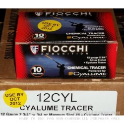 10 Rounds of 12ga Tracer Ammo by Fiocchi - 3/4 ounce #8 shot