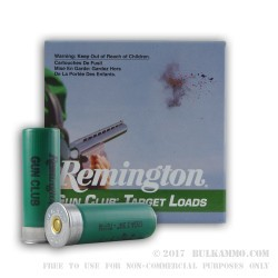 25 Rounds of 12ga Ammo by Remington - 1 1/8 ounce #8 shot
