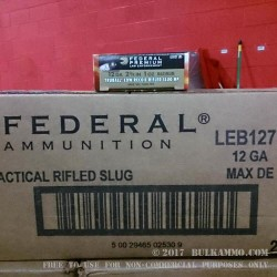 "5 Rounds of 12ga Ammo by Federal LE Tactical Truball - 2-3/4"" 1 ounce Rifled Slug"