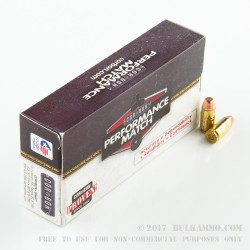 50 Rounds of .40 S&W Ammo by Corbon Performance Match - 165gr FMJ