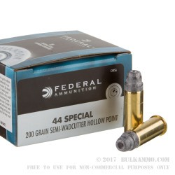 500  Rounds of .44 S&W Spl Ammo by Federal - 200gr LSWCHP