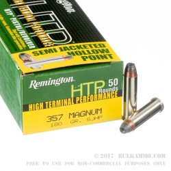 50 Rounds of .357 Mag Ammo by Remington - 180gr JHP