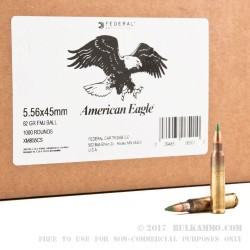 2000 Rounds of 5.56x45 M855 Ammo by Lake City - 62gr FMJ