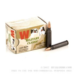 20 Rounds of .223 Ammo by Wolf WPA - 62gr FMJ