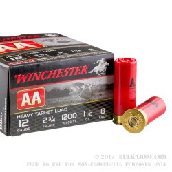 25 Rounds of 12ga Ammo by Winchester - 1 1/8 ounce #8 shot