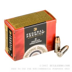 500  Rounds of 9mm Ammo by Federal - 124gr JHP