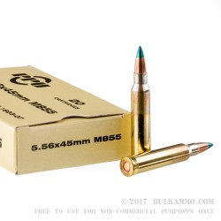 1000 Rounds of M855 5.56x45 Ammo by Prvi Partizan - 62gr FMJ