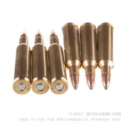 20 Rounds of 6 mm Rem Ammo by Federal - 100gr SP