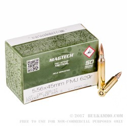1000 Rounds of 5.56x45 Ammo by CBC - 62gr FMJ