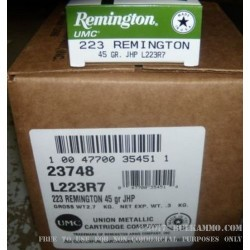 200 Rounds of .223 Ammo by Remington - 45 gr JHP