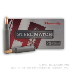 200 Rounds of .223 Ammo by Hornady - 52gr HPBT