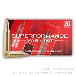 20 Rounds of .223 Ammo by Hornady Superformance - 53gr V-Max