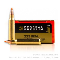 20 Rounds of .223 Ammo by Federal - 55gr Nosler Ballistic Tip