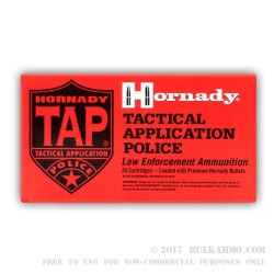 200 Rounds of .223 Ammo by Hornady - 55gr TAP Urban