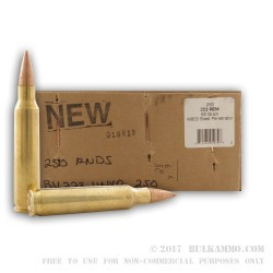 250 Rounds of .223 Ammo by BVAC - 62gr FMJ M855 Steel Penetrator Bullets