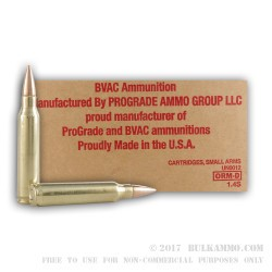 250 Rounds of .223 Ammo by BVAC - 62gr FMJ