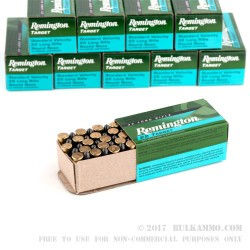 500  Rounds of .22 LR Ammo by Remington Target - 40gr LRN