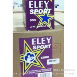 5000 Rounds of .22 LR Ammo by Eley Sport - 40gr LRN