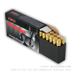 20 Rounds of .243 Win Ammo by PMC - 100gr SPBT Interlock