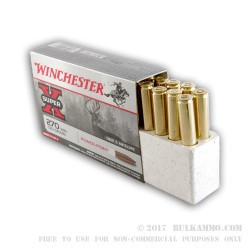20 Rounds of .270 Win Ammo by Winchester Super-X - 130gr PP