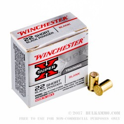 50 Rounds of .22 Short Ammo by Winchester Super-X -  Blanks