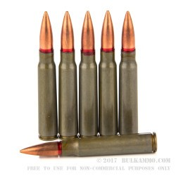 20 Rounds of 8 mm Mauser Ammo by Romanian Surplus - 150gr FMJ