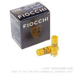 25 Rounds of 20ga Ammo by Fiocchi - 3/4 ounce #7 1/2 shot