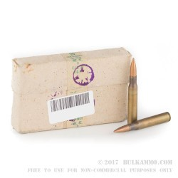 1000 Rounds of 30-06 Springfield Ammo by Military Surplus - 150gr FMJ