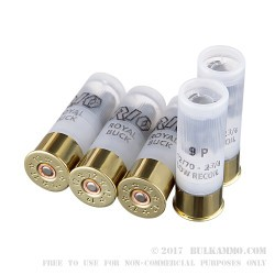 5 Rounds of 12ga Low Recoil Ammo by Rio -  00 Buck