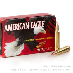 30 Rounds of .223 Ammo by Federal - 55gr FMJBT