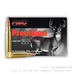 20 Rounds of 30-06 Springfield Ammo by PMC - 150gr SPBT Interlock