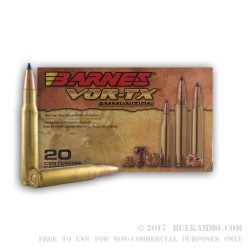 20 Rounds of 30-06 Springfield Ammo by Barnes - 180gr TTSX
