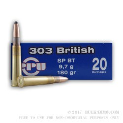 500  Rounds of .303 British Ammo by Prvi Partizan - 180gr SP
