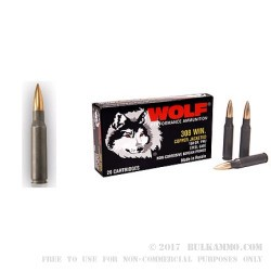 500 Rounds of .308 Win Ammo by Wolf - 150gr FMJ