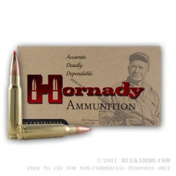 20 Rounds of .308 Win Ammo by Hornady - 168gr A-MAX Match