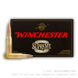 20 Rounds of .308 Win Ammo by Winchester Supreme Match - 168gr HPBT MatchKing