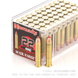 500  Rounds of .22 WMR Ammo by Hornady - 30gr V-Max