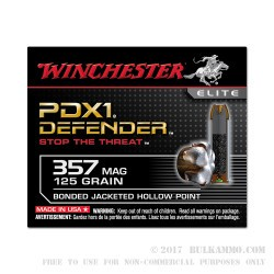 20 Rounds of .357 Mag Ammo by Winchester - 125gr JHP
