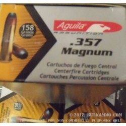 50 Rounds of .357 Mag Ammo by Aguila - 158gr SJHP