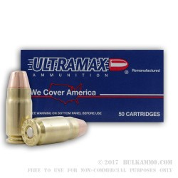 50 Rounds of .357 SIG Ammo by Ultramax - 125gr FMJ